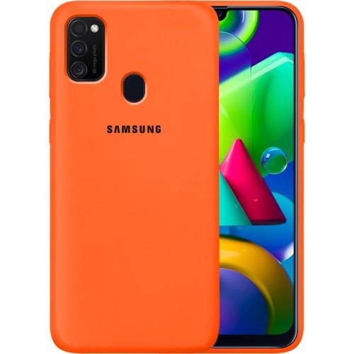 Силикон Original 360 Case Logo Samsung Galaxy M21 (2020) (Оранжевый)