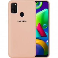 Силикон Original Case Samsung Galaxy M21 (2020) (Пудровый)