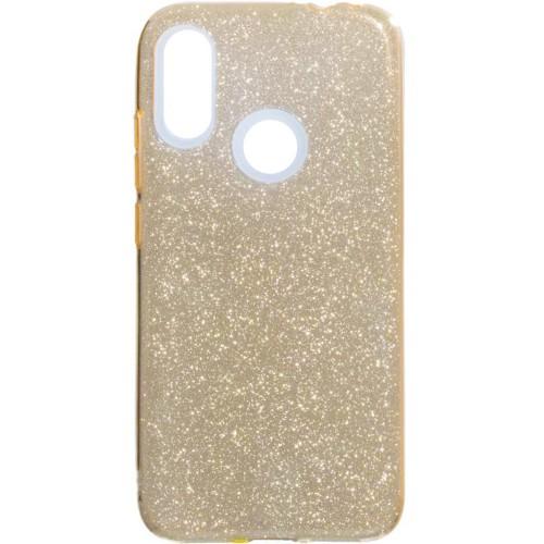 Силиконовый чехол Glitter Xiaomi Redmi Note 7 (Золотой)