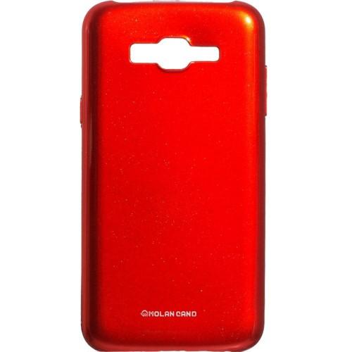 Силиконовый чехол Molan Shining Samsung Galaxy J7 (2015) J700 (Красный)