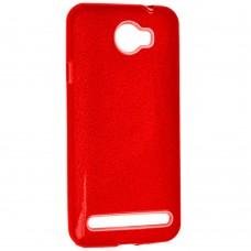 Силиконовый чехол Glitter Huawei Y5-2 (Красный)