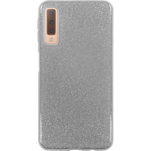 Силиконовый чехол Glitter Samsung Galaxy A7 (2018) A750 (серебрянный)