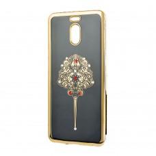 Силиконовый чехол Kingxbar Diamond Meizu M6 (Заколка, Золотой)