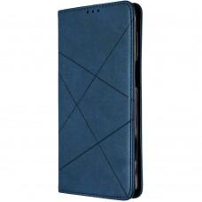 Чехол-книжка Leather Book Samsung Galaxy A12 (2020) (Тёмно-синий)