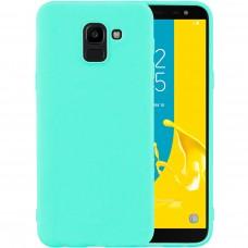 Силиконовый чехол iNavi Color Samsung Galaxy J6 (2018) J600 (Бирюзовый)