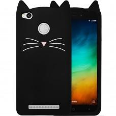 Силикон Kitty Case Xiaomi Redmi 3s / 3 Pro / 3x (Черный)