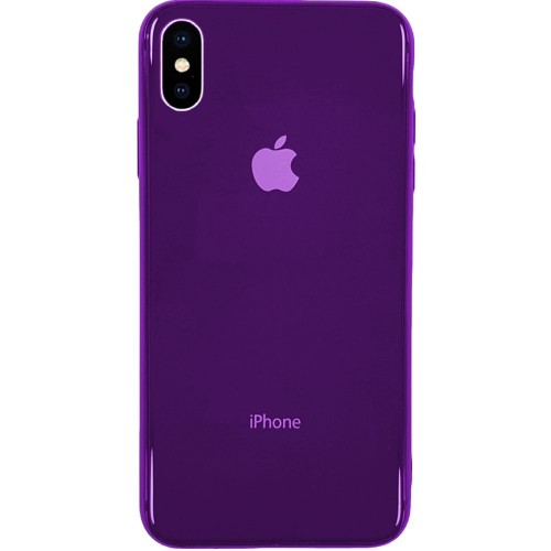 Накладка Premium Glass Case Apple iPhone X / XS (Фиолетовый)