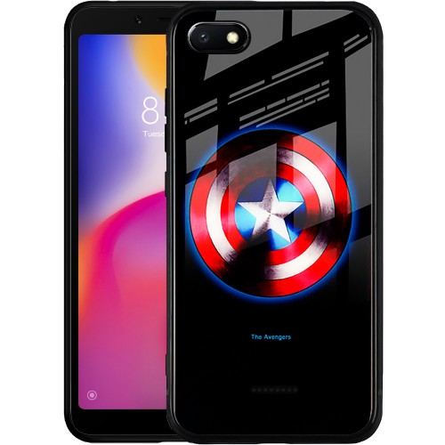 Накладка Luminous Glass Case Xiaomi Redmi 6A (Captain America)