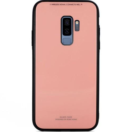 Накладка Glass Case Samsung Galaxy S9 Plus (розовый)