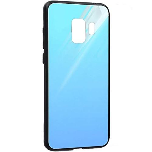 Накладка Glass Case Samsung Galaxy S9 Plus (голубой)