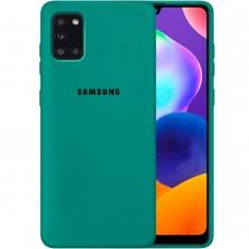 Силикон Original Case Samsung Galaxy A31 (2020) (Тёмно-зелёный)