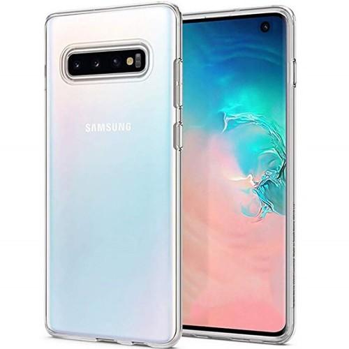 Силиконовый чехол WS Samsung Galaxy S10 Plus (прозрачный)