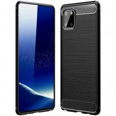 Силикон Polished Carbon Samsung Galaxy Note 10 Lite (Чёрный)