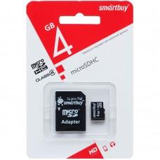 Карта памяти Smartbuy MicroSDHC 4Gb