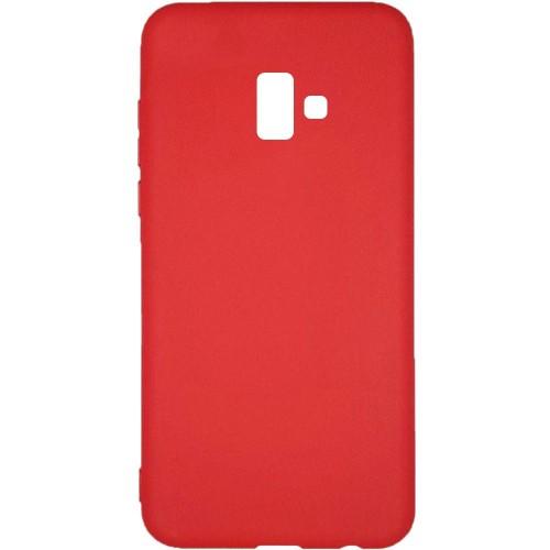 Силиконовый чехол Multicolor Samsung J6 Plus (2018) J610 (красный)