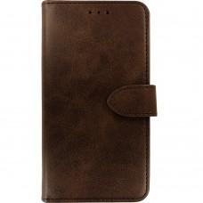 Чехол-книжка Leather Book Samsung Galaxy A10 / M10 (2019) (Тёмно-коричневый)