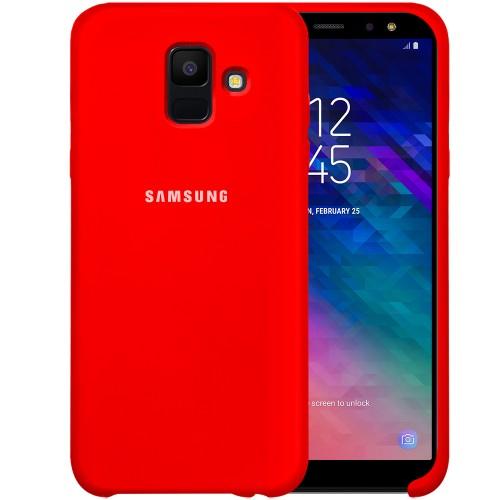 Силикон Original Case HQ Samsung Galaxy A6 (2018) A600 (Красный)