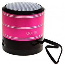Колонка Music Mini Speaker Bluetooth QC-18 (Розовый)