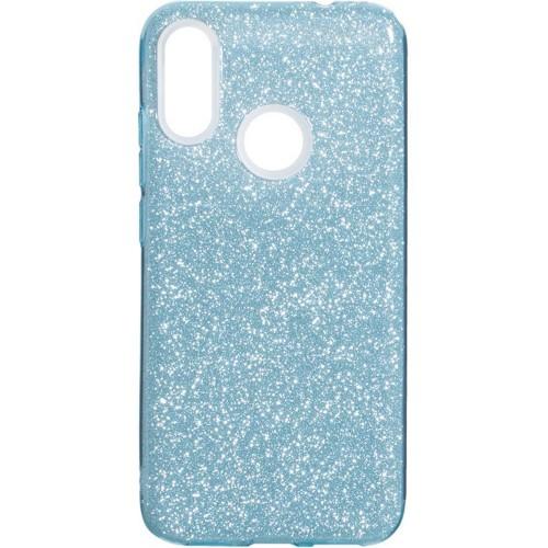 Силиконовый чехол Glitter Xiaomi Redmi Note 7 (Голубой)