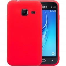 Силиконовый чехол iNavi Color Samsung Galaxy J1 Mini J105 (Красный)