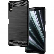 Силикон Polished Carbon Sony Xperia L3 (Чёрный)