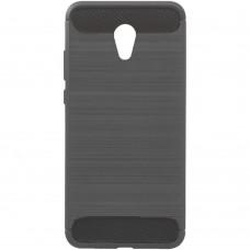 Силиконовый чехол Polished Carbon Meizu M5 Note (Серый)