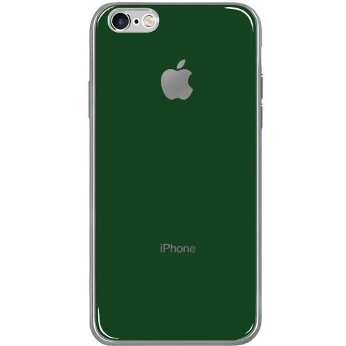 Силиконовый чехол Zefir Case Apple iPhone 6 / 6s (Темно-зелёный)