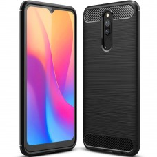 Силикон Polished Carbon Xiaomi Redmi 8 (чёрный)
