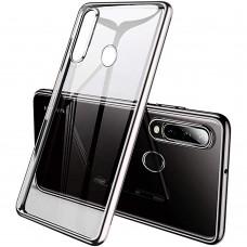 Силиконовый чехол UMKU Line Huawei P30 Lite (Серебряный)