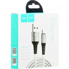 USB-кабель Hoco U46 Tricyclic (MicroUSB) (Белый)