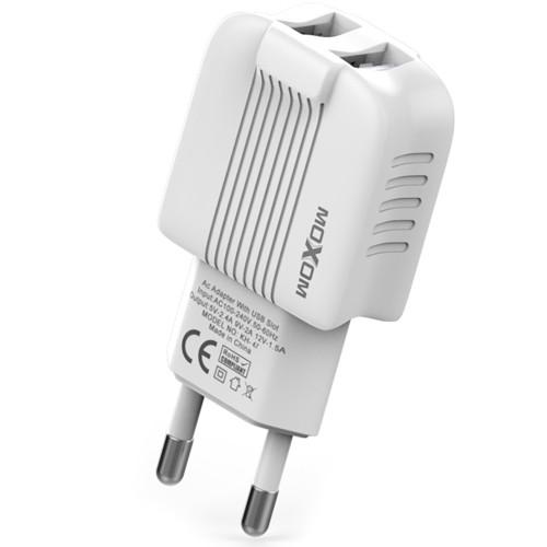 СЗУ-адаптер MOXOM (KH-47) 2.4A 2USB (Белый)