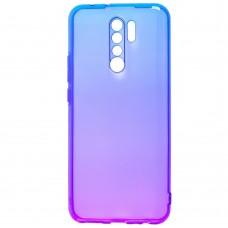 Силикон Gradient Design Xiaomi Redmi 9 (Сине-фиолетовый)
