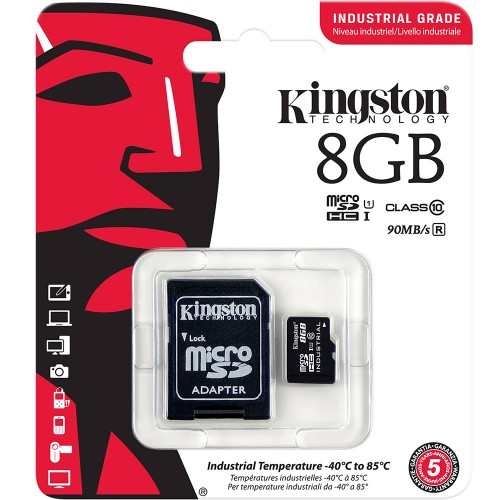 Карта памяти Kingston Canvas Select Plus MicroSDHC 8Gb (Class 10) + SD-адаптер