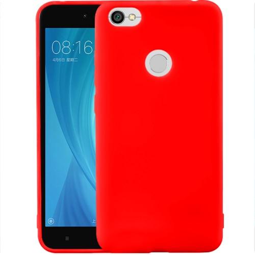 Силиконовый чехол iNavi Color Xiaomi Redmi Note 5a Prime (красный)