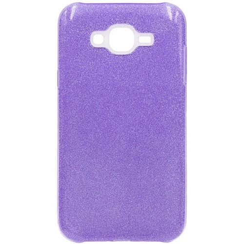 Силиконовый чехол Glitter Samsung J5 (2015) J500 (фиолетовый)