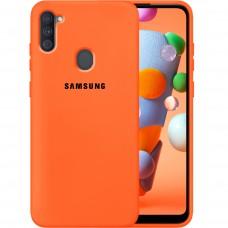 Силикон Original Case Samsung Galaxy A11 (2020) (Оранжевый)