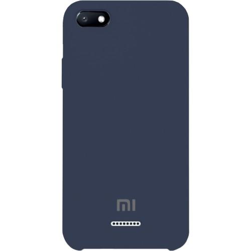 Силикон Original 360 Case Logo Xiaomi Redmi 6A (Тёмно-синий)