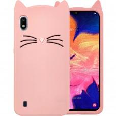 Силикон Kitty Case Samsung Galaxy A10 (2019) (Розовый)