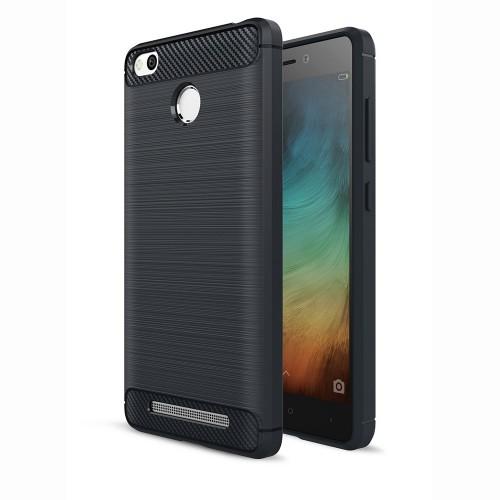 Силиконовый чехол Polished Carbon Xiaomi Redmi 3s / 3 Pro (Черный)