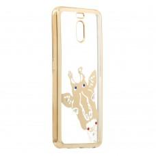 Силиконовый чехол Kingxbar Diamond Meizu M6 Note (Жираф, Золотой)