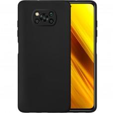 Силикон Original Case Xiaomi Poco X3 (Чёрный)