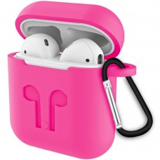 Футляр для наушников Apple AirPods Full Silicone Case (31) Barbie Pink