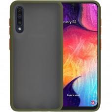 Накладка Totu Gingle Series Samsung Galaxy A30S / A50 / A50S (2019) (Тёмно-зелёный)