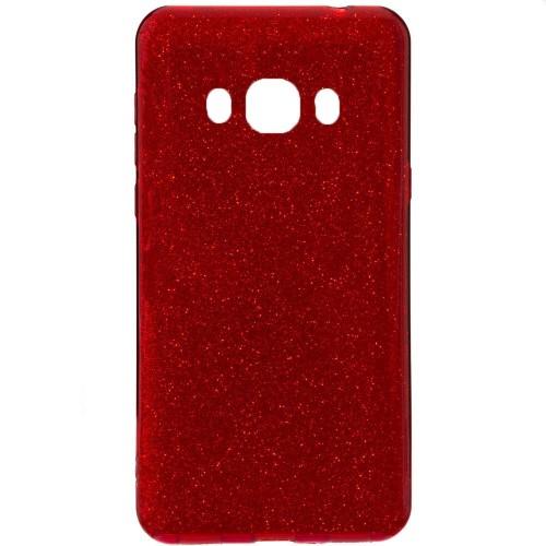 Силиконовый чехол Glitter Samsung Galaxy J7 (2016) J710 (красный)