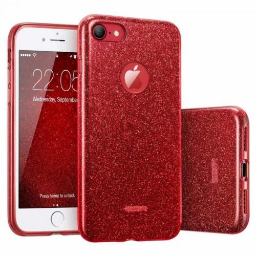 Силикон Glitter Apple iPhone 7 / 8 (Красный)