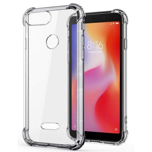 Силиконовый чехол 6D Xiaomi Redmi 6 (Прозрачный)