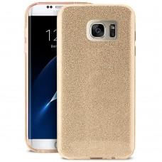 Силикон Glitter Samsung Galaxy S7 (Золотой)