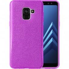 Силикон Glitter Samsung Galaxy A8 (2018) A530 (Фиолетовый)