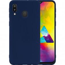 Силиконовый чехол iNavi Color Samsung Galaxy M20 (тёмно-синий)