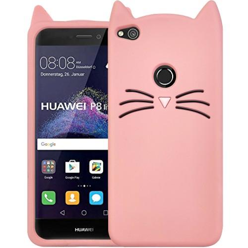 Силикон Kitty Case Huawei P8 Lite (2017) (Розовый)